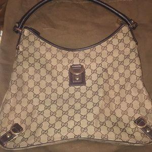 100% Authentic Gucci Handbag Brown leather trim